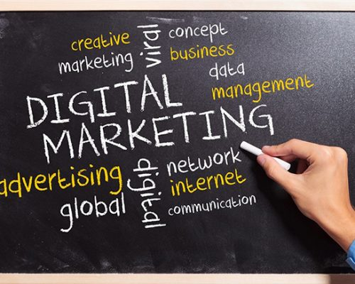 digital marketing chalkboard
