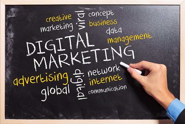digital marketing chalkboard