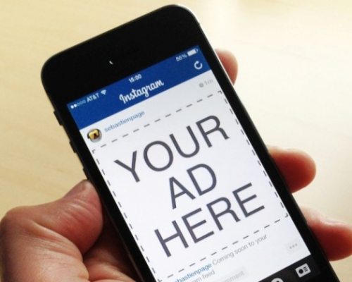 mobile Instagram ad
