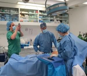 Surgeons Snapchatting Surgery