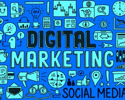 digital marketing jargon image - blue