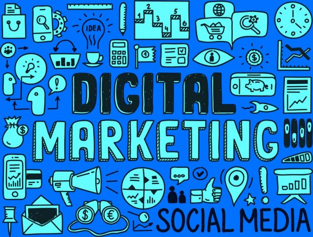 digital marketing jargon image - blue