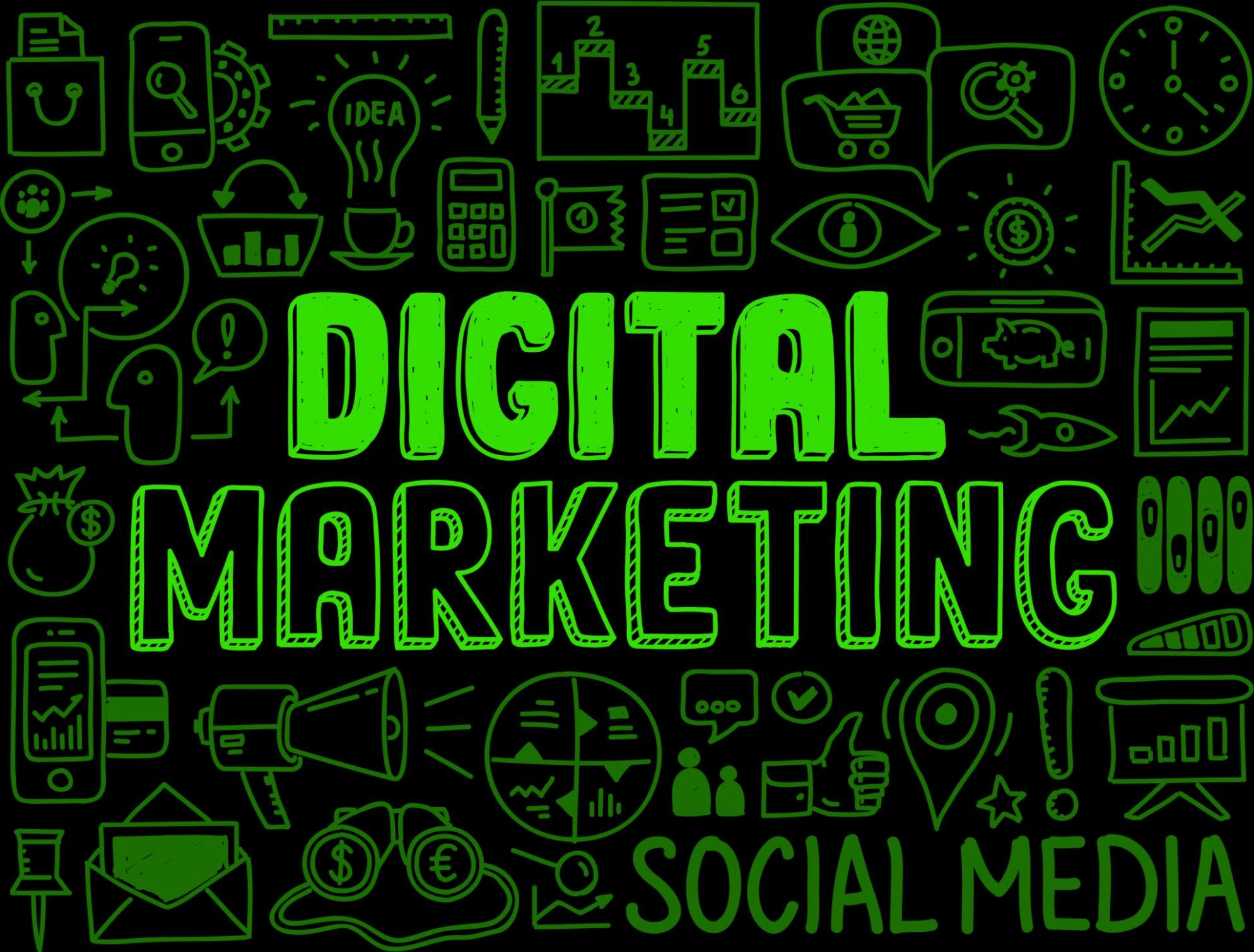 digital marketing jargon image - green
