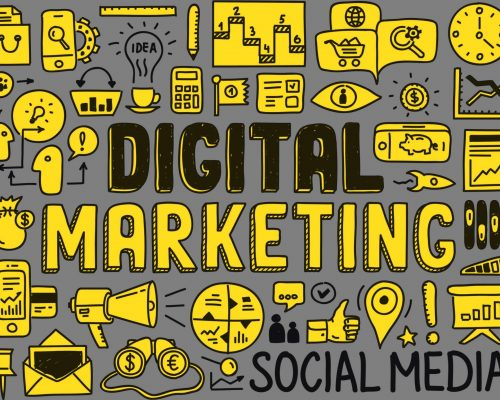 digital marketing jargon image - yellow