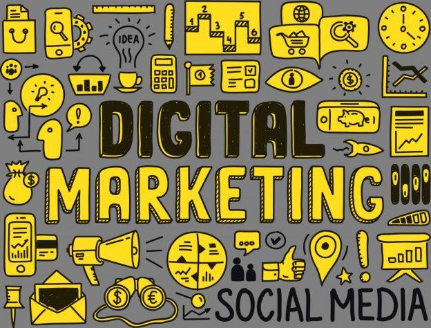 digital marketing jargon image - yellow