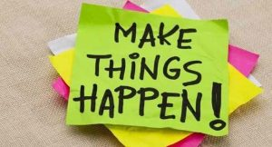 make things happen post it notes