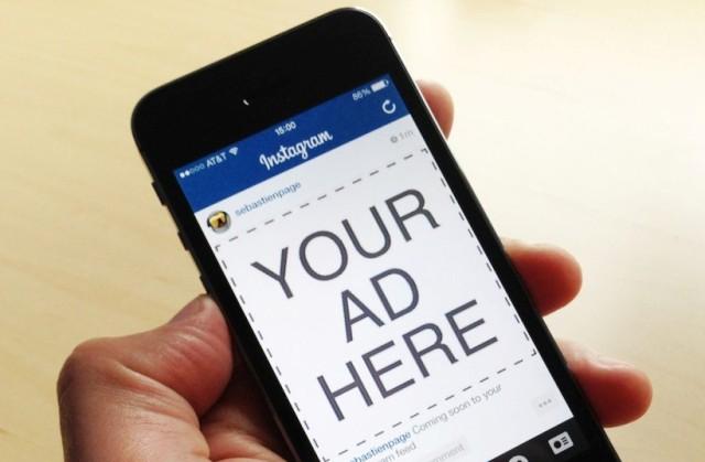 mobile Instagram ad